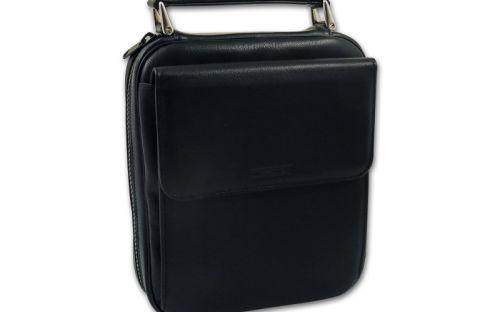 Pfeifentasche Martin Wess für 7 Pfeifen - schwarz (18x22x7cm)