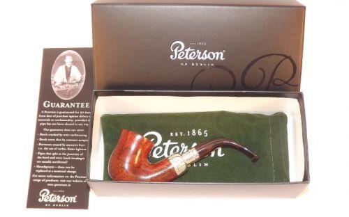 pfeifenshop: Peterson Pfeife Spigot Silver 05 Irish F-lip