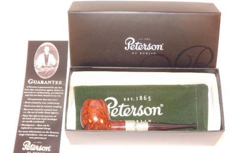 pfeifenshop: Peterson Pfeife Spigot Silver 87 Irish F-lip