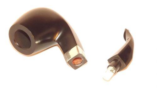 Peterson Pfeife Sherlock Holmes Milverton Ebony P-lip (9mm)