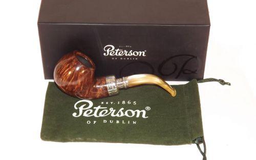 Peterson Pfeife Spigot Silver XL02 Flame Grain F-lip