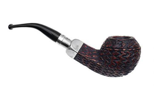pfeifenshop: Peterson Pfeife Spigot Silver XL15 Rustic F-lip