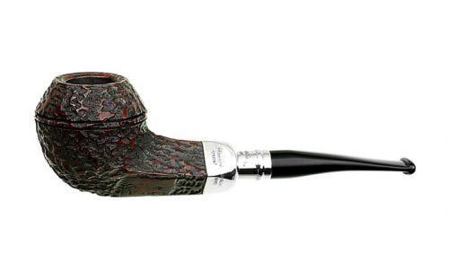 pfeifenshop: Peterson Pfeife Spigot Silver XL21 Rustic F-lip