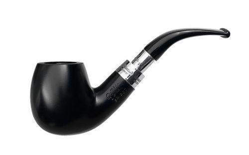 pfeifenshop: Peterson Pfeife Spigot Silver 68 Black F-lip