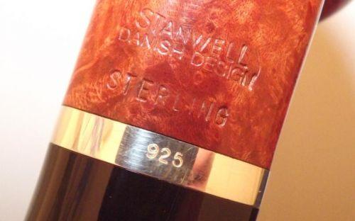 Stanwell Pfeife Sterling 95 Brown Polish