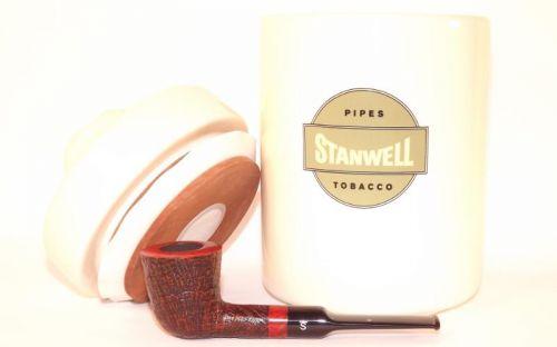pfeifenshop: Stanwell Pfeife Classic Red Sand + Tobacco Jar