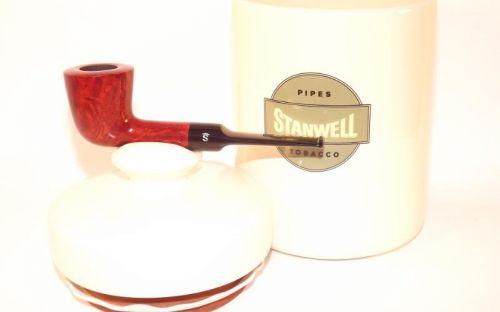 pfeifenshop: Stanwell Pfeife Melange Brown Polish + Tobacco Jar