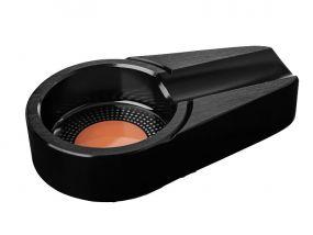 pfeifenshop: Zigarren Aschenbecher - schwarz Metall