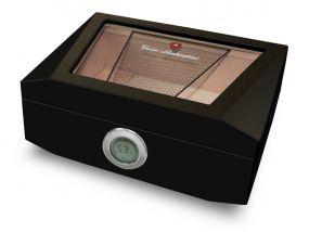 pfeifenshop: Humidor - schwarz lackiert, spanischer Zeder, für 90 Zigarren, Lamborghini Monte Carlo