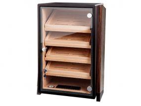 Humidorschrank - dunkelbraun, Glastür, spanischer Zeder, für 250 Zigarren