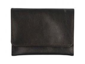 Pfeifentabak Beutel - schwarz, Leder (11x7,5cm)