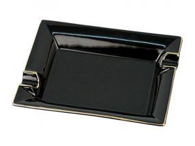 pfeifenshop: Zigarrenaschenbecher Porzellan schwarz