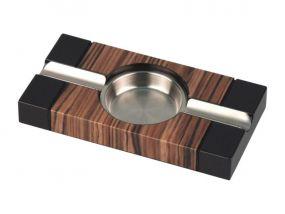 pfeifenshop: Zigarrenaschenbecher Holz, schwarz / braun