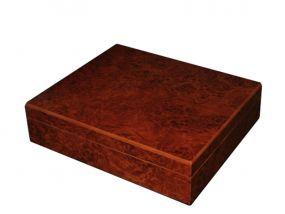 pfeifenshop: Humidor - Braun, spanischer Zeder, für 30 Zigarren
