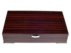 Exclusive Humidor - dunkelbraun lackierte, spanischer Zeder, für 30 Zigarren