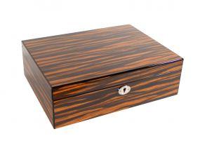 Humidor - Makassar-design, spanischer Zeder, für 40 Zigarren
