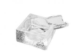 pfeifenshop: Zigarren Aschenbecher - Kristallglas, viereckig