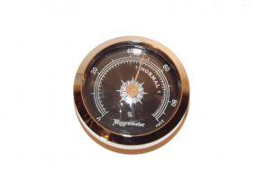 pfeifenshop: Hygrometer - 45/38 mm, silberfarbe