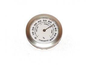 pfeifenshop: Hygrometer - 37/35 mm, silberfarbe