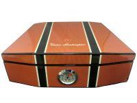 Humidor - Carbon-Orange, spanischer Zeder, für 50 Zigarren, Lamborghini