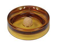 Pfeifen Aschenbecher für 2 Pfeifen - Glas, gelb