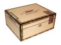 Humidor - hellbraun-lackiert, spanischer Zeder, für 30 Zigarren